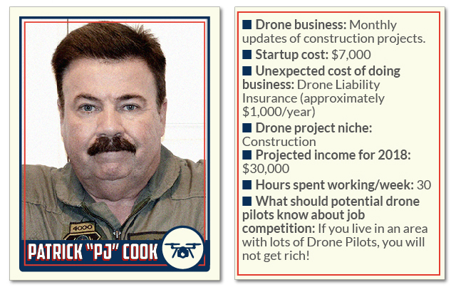 Patrick Cook PJ construction freelance drone pilots