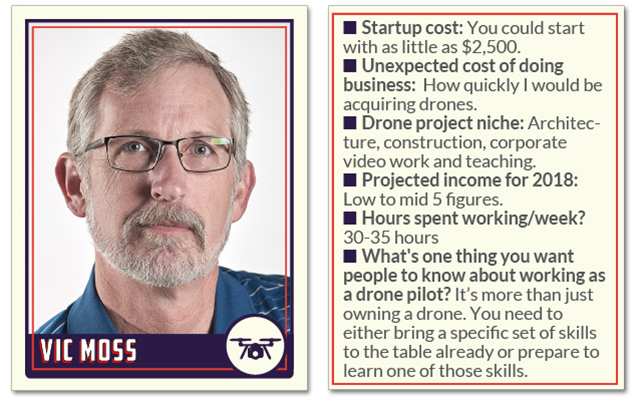Vic Moss freelance drone pilots