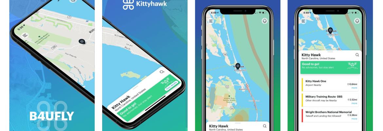 B4UFLY app update Kittyhawk
