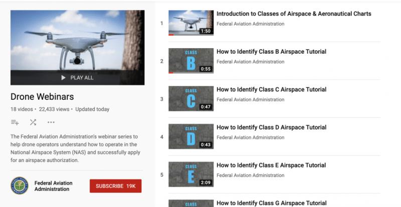 free drone webinars faa youtube