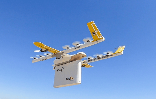 Fedex drone deliveries Google Wing