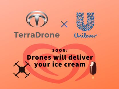 Ben & Jerry's TerraDrone Unilever drone delivery ice cream