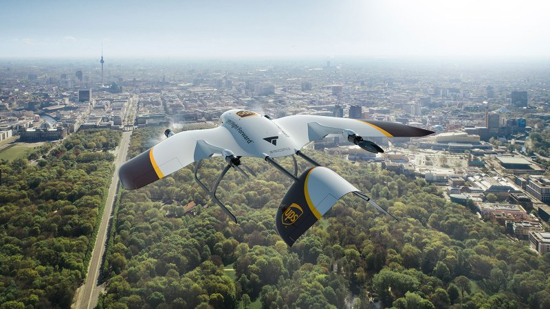 package delivery drones UPS wingcopter