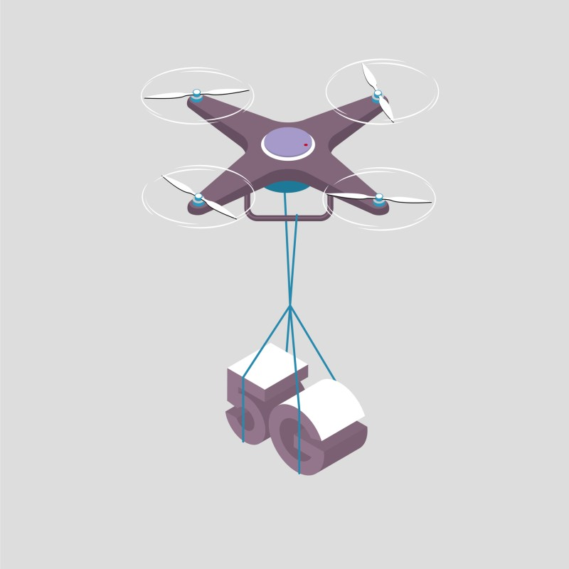 5G drone delivery