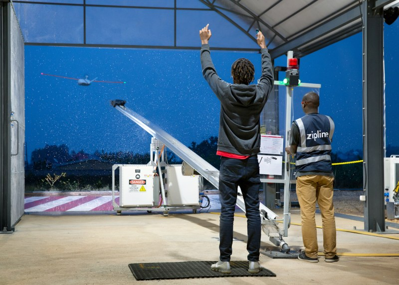 Zipline launch system africa drone delivery