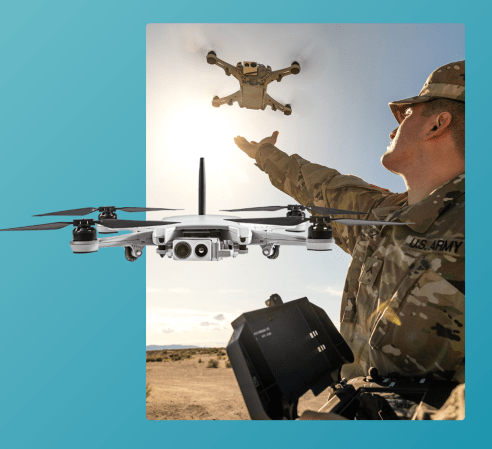 Teal Golden Eagle drone military