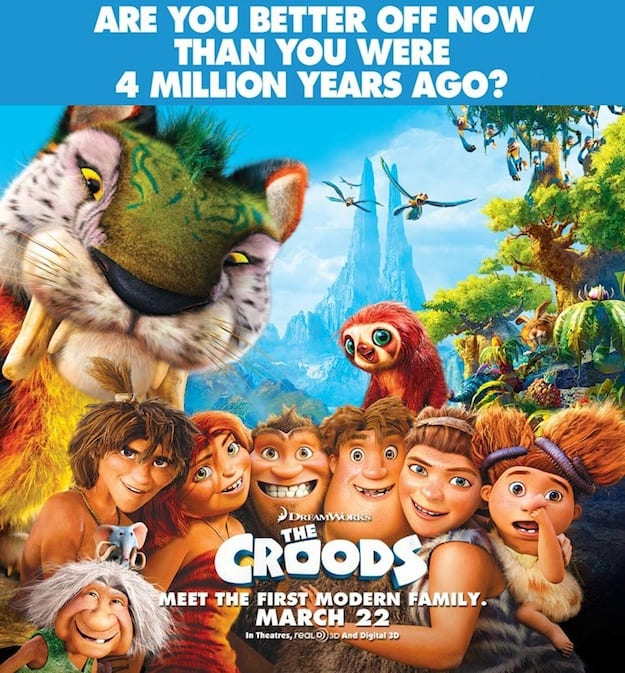 Check Out a New Poster for The Croods