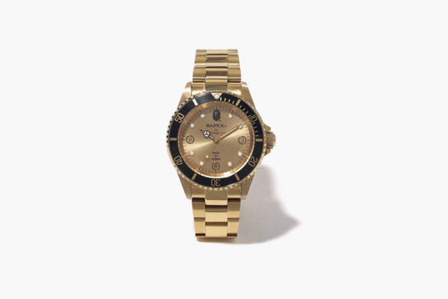BAPE Releases Gold BAPEX Type 1 Watches