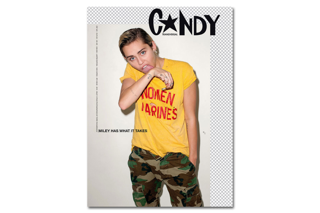 Terry Richardson & Miley Cyrus Get Comfortable for 'CANDY Magazine' (NSFW)