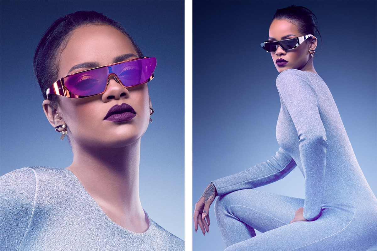 Rihanna's Space-Age Dior Sunglasses - In Stores Now