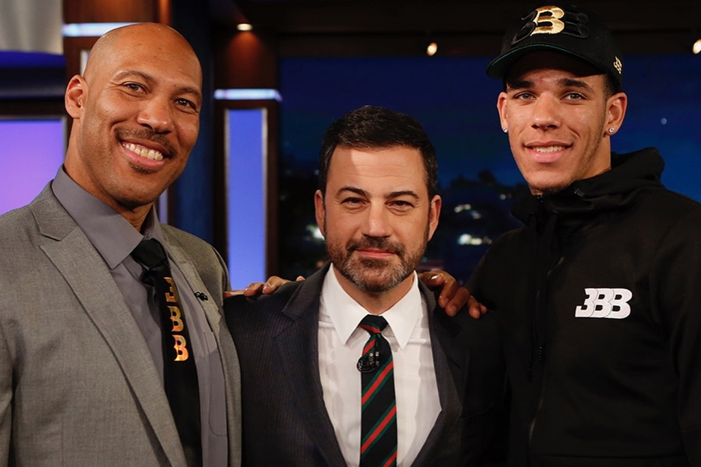 Lonzo Wears ZO2 Sneakers on Jimmy Kimmel Live