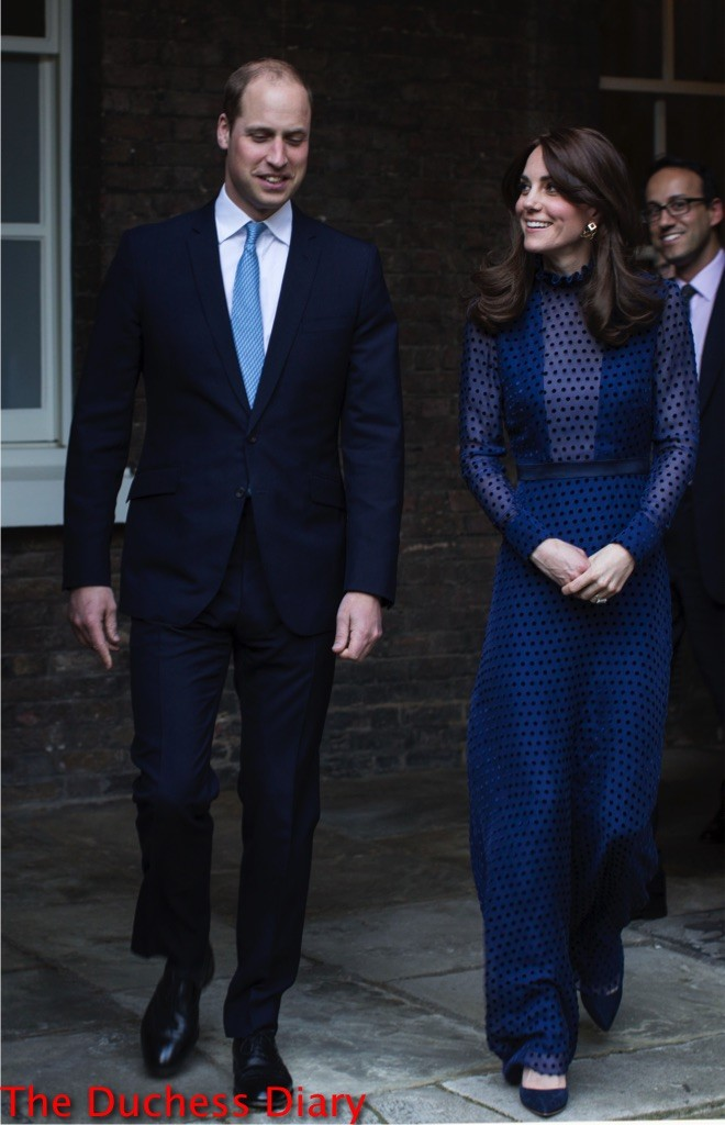 Kate Wears Saloni For Pre Tour Reception William Has A