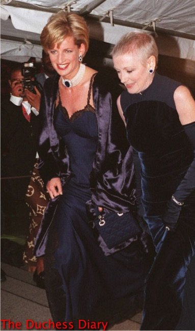 Princess Diana Attends The 1996 Met Costume Institute Ball