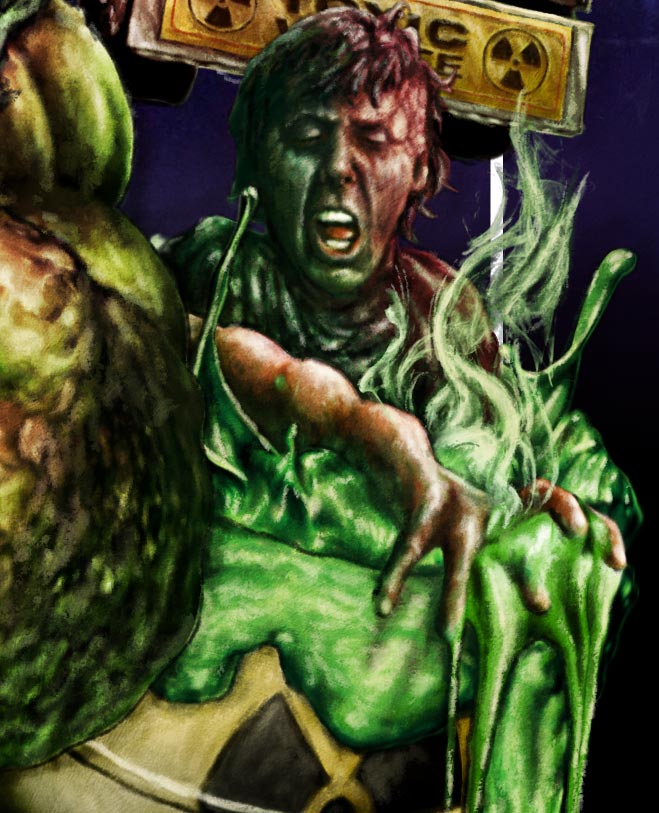 The Toxic Avenger DVD BluRay cover artworkThe Dude Designs