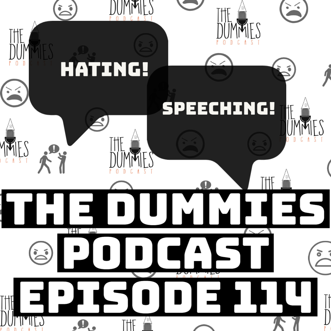 """Hating Speeching"" The Dummies are back with yet another fun filled episode. As usual, the guys bring you a great show filled with their usual high energy and wittiness on one of the fastest growing podcast going! This week, the guys discuss the rioting and raiding of the Capitol Building in Washington D.C. Tune in as the guys discuss what they think is next for the United States, and how do we as a country deal with what's ahead as our nation is divided between two political parties. Also on this week's episode, the guys discuss the new year and what's on the horizon. Listen in as The Dummies unpack what are some of their goals going forward in the upcoming months into the new year. Also on this week's, the. And in sporting news, the guys make their predictions on the winners of the National Championship Game between The University of Alabama vs. Ohio State University. Also The Dummies provides their picks for the Super Bowl. And it's back! The segment where people say things and instantly regret them and end up apologizing for it in ""Said it, but Now I'm apologizing for it""! And with the latest in music news to follow, the guys discuss ""Heaux Tales"" the latest album from Jazmine Sullivan as well as other topics, The Dummies are just thrilled to be able to bring you, our listeners a fresh New episode of one of the fastest growing podcast around. So tune in and try to figure out this week's hilariously funny ""Dummy of The Week"" on this all new episode of The Dummies Podcast! ""Hating Speeching"" Ep. 114 by The Dummies Podcast. Released: 2021. Genre: Podcast."