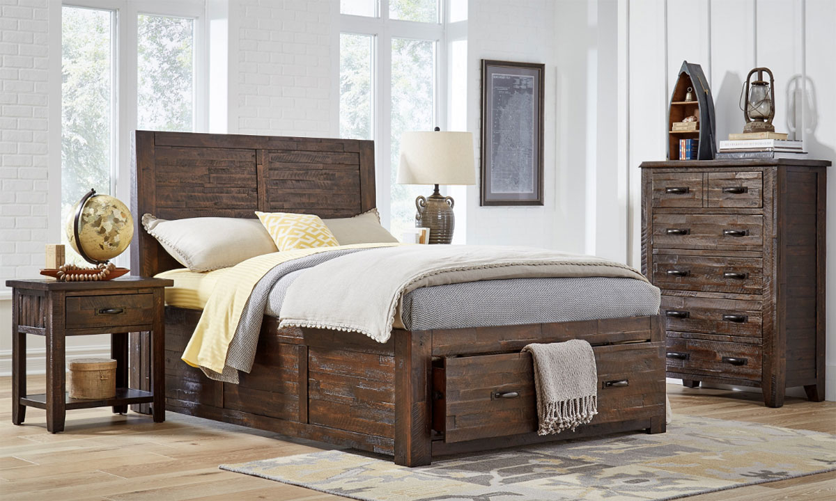 Jackson Lodge Rustic Youth Storage Bedroom Sets The Dump Luxe Furniture Outlet