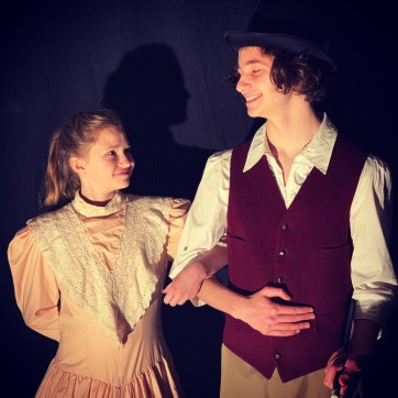 Samantha Greenfield and Max Snyder play Charity and P.T. Barnum in the musical Barnum.