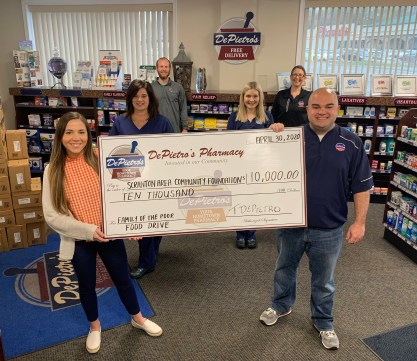DePietros Pharmacy Contributes 10K to Heart of Scranton Virtual Fundraiser