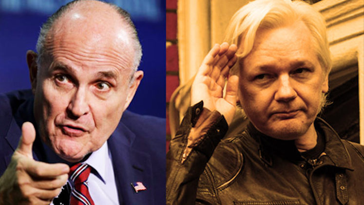 Rudy Giuliani provides Assange with some hope for freedom ...