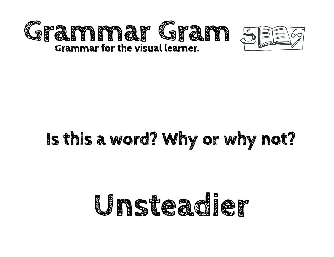 Is unsteadier a word? Grammar Gram by The Durango Wordsmith