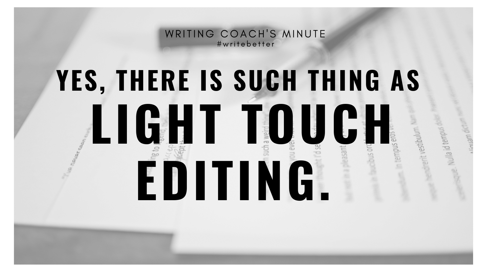 Light Touch Editing by a Professional Book Editor