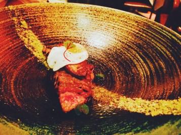 Waygu beef with quail egg