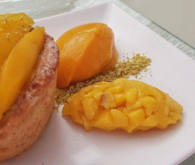 mango lime and coconut dessert