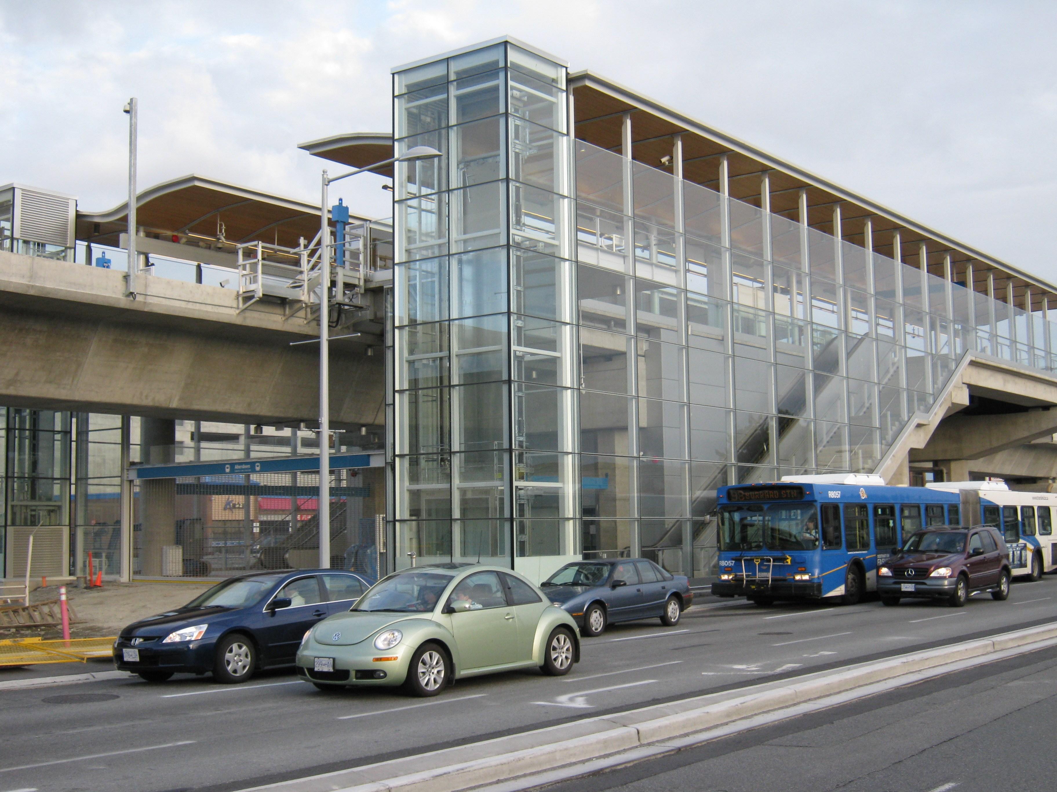 Aberdeen Station (TransLink), Richmond, British Columbia