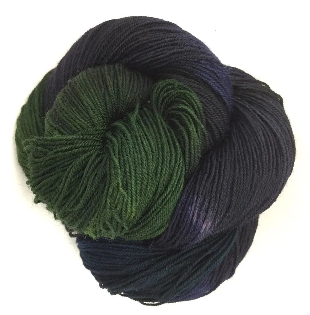 Primordial Ooze on Dainty yarn