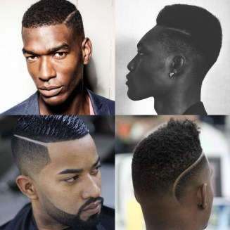 black-men-haircuts-short-part-with-fade