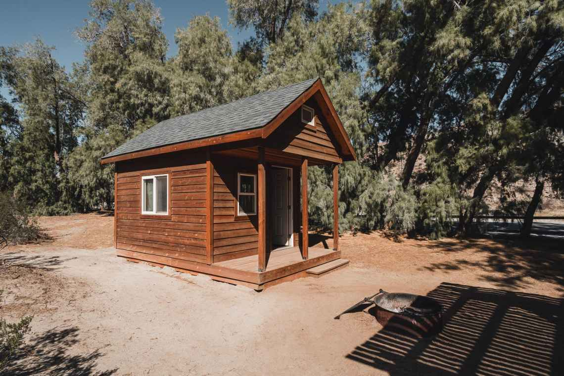 small Cabin at Tamarisk Grove Campground
