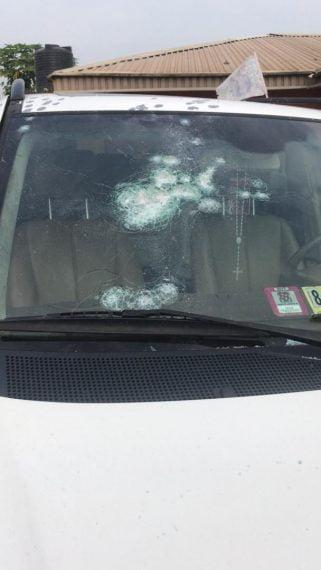 IMG 20200825 WA0073 Edo 2020: Photos as gunmen rain bullets on house, vehicles of Obaseki's key loyalist