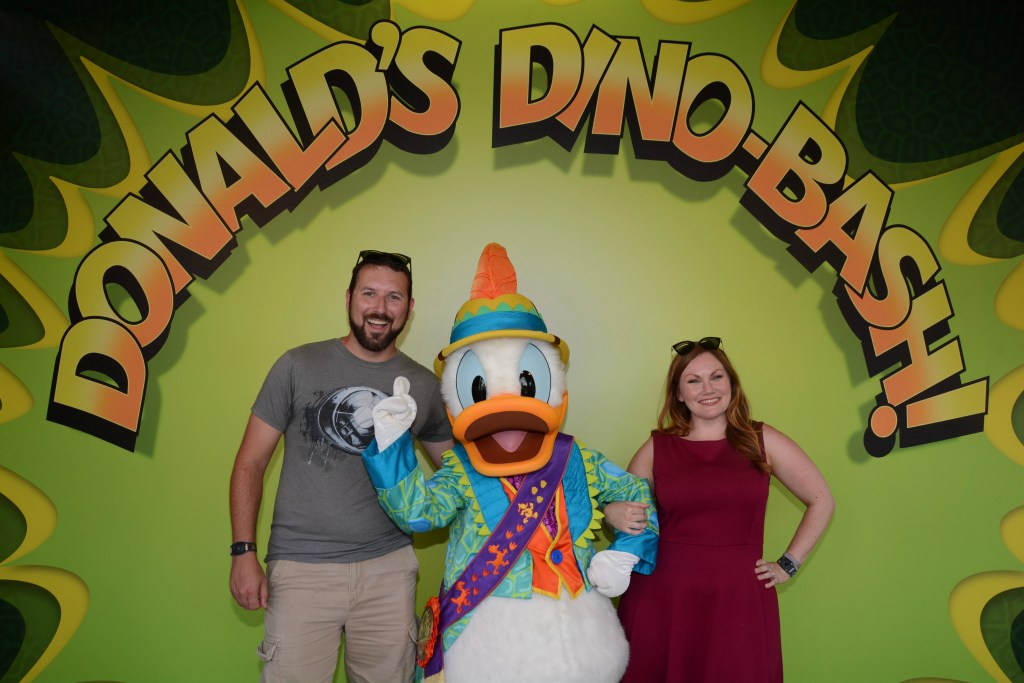 Meeting Donald Duck at Donald's Dino-Bash! at Disney's Animal Kingdom