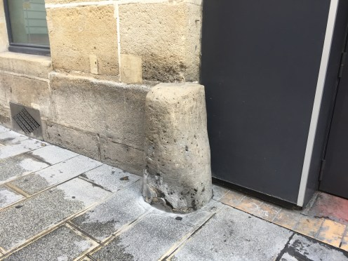 The stone ones often blend into the buildings. Perfect for stubbing your toe.