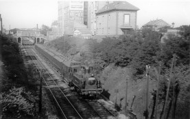 Another train passing through the same station.