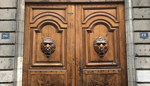 Full Grenoble doors. Wow.