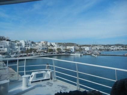 Boat entering Lavadi Port, Serifos