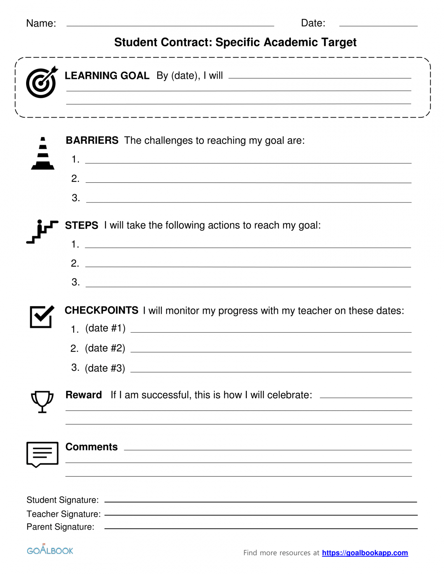 Contracts Udl Strategies Student Teacher Contract Template
