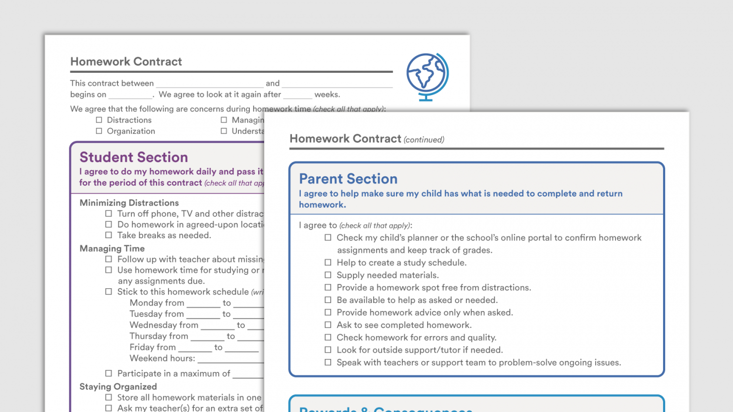 Parent College Student Contract Template