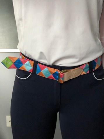 Custom Satin Belt in Dealbreaker Pattern