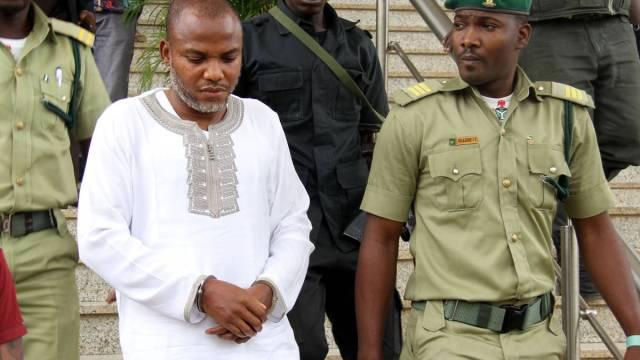 Kanu in handcuffs