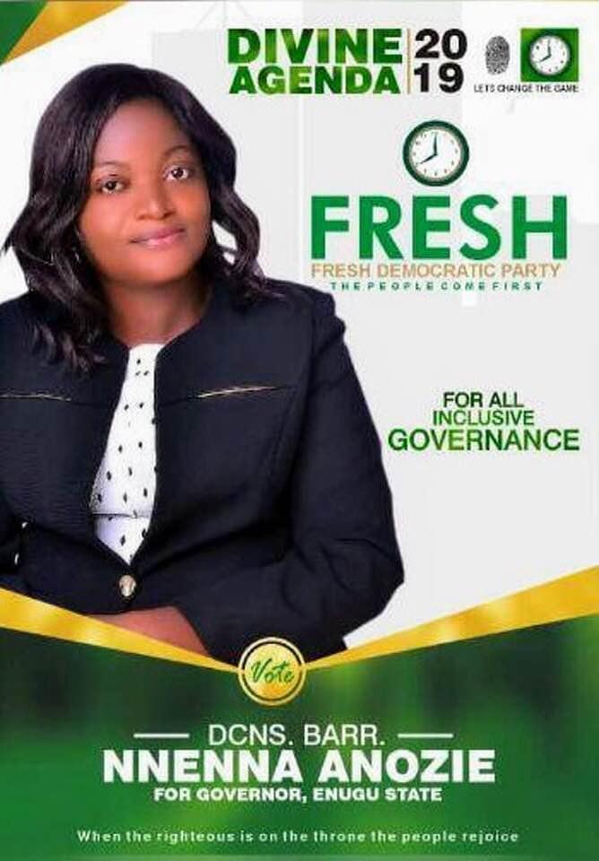 Mrs. Anoie, FDP flag bearer for Enugu State