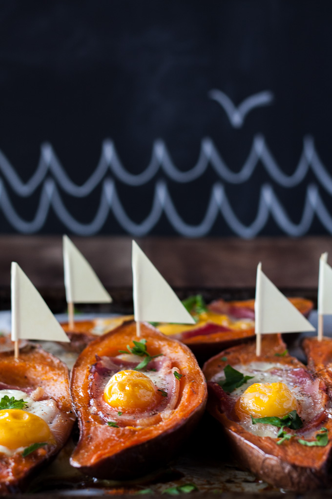 Stuffed Sweet Potatos with Bacon and Egg