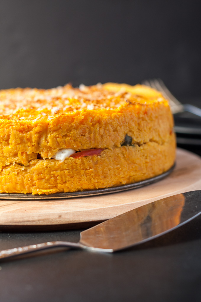 Sweet Potato Capsicum Pie,Gluten free, vegetarian and delicious!