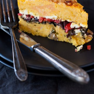 Sweet Potato Capsicum Feta Pie