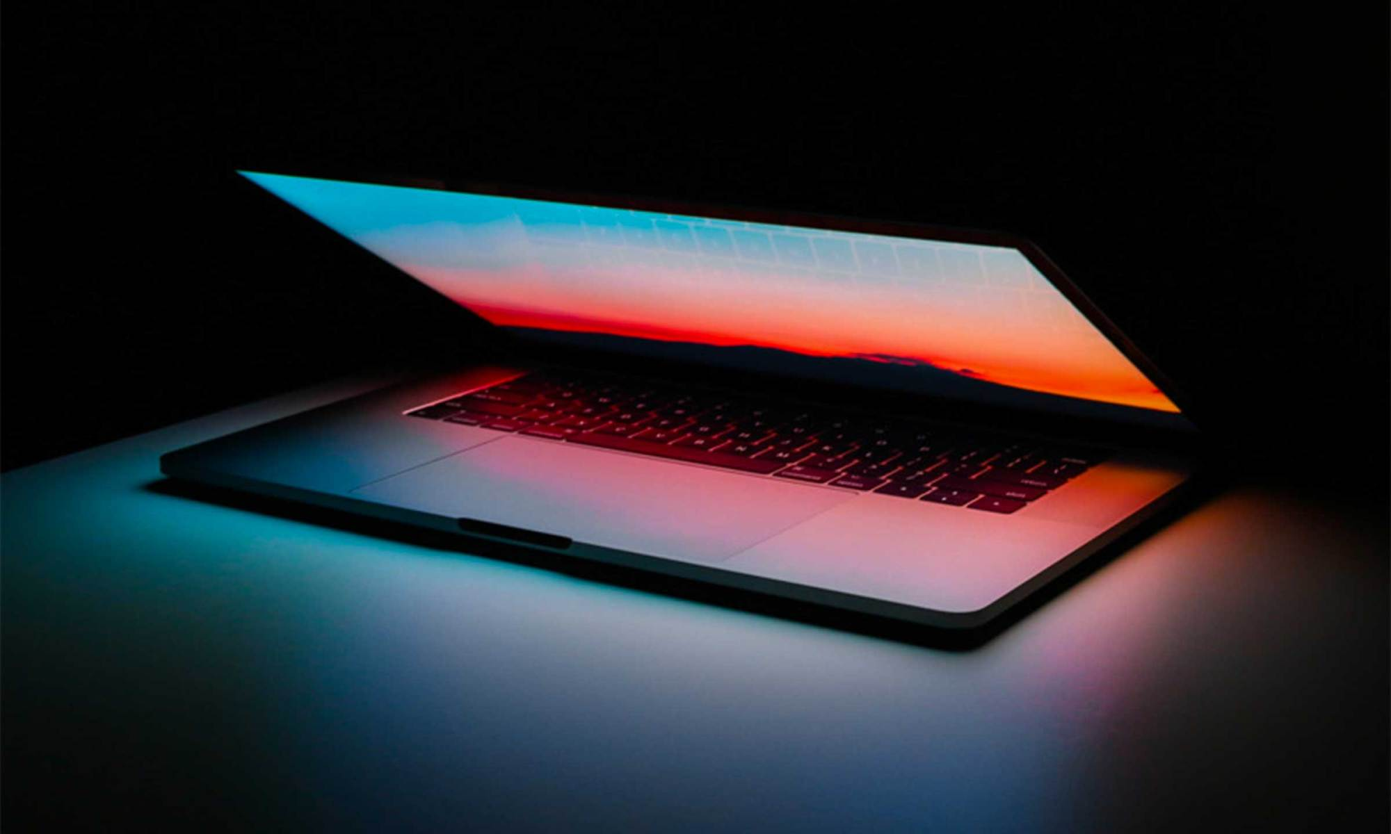 Glowing laptop to show big ideas on environmental sustainability from WGSN Web Summit 2018, Lisbon, Portugal