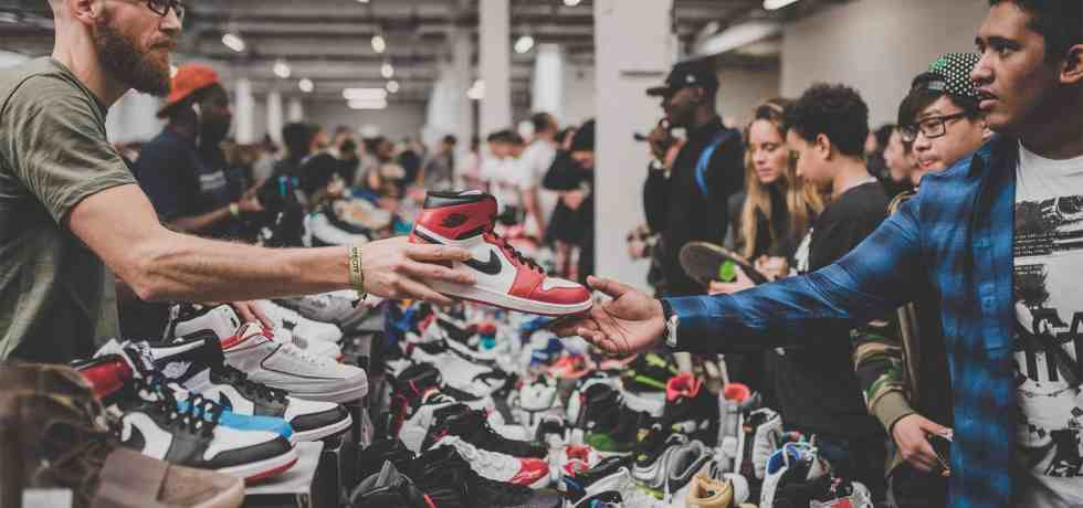 Reselling previously owned sneakers at Crepe City in London