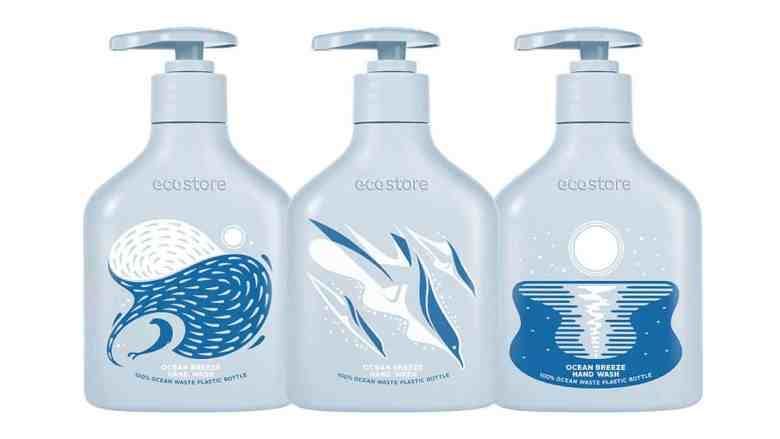 Plastic Circularity Ecostore bottle made from 100% recycled ocean plastic