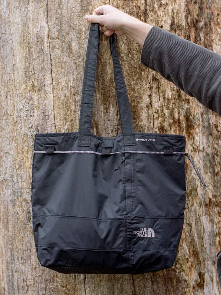 Greater Goods Black North Face Jacket turned into bag