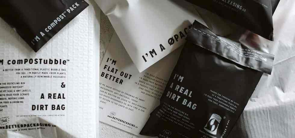 Mix of The Better Packaging Co. sustainable packaging